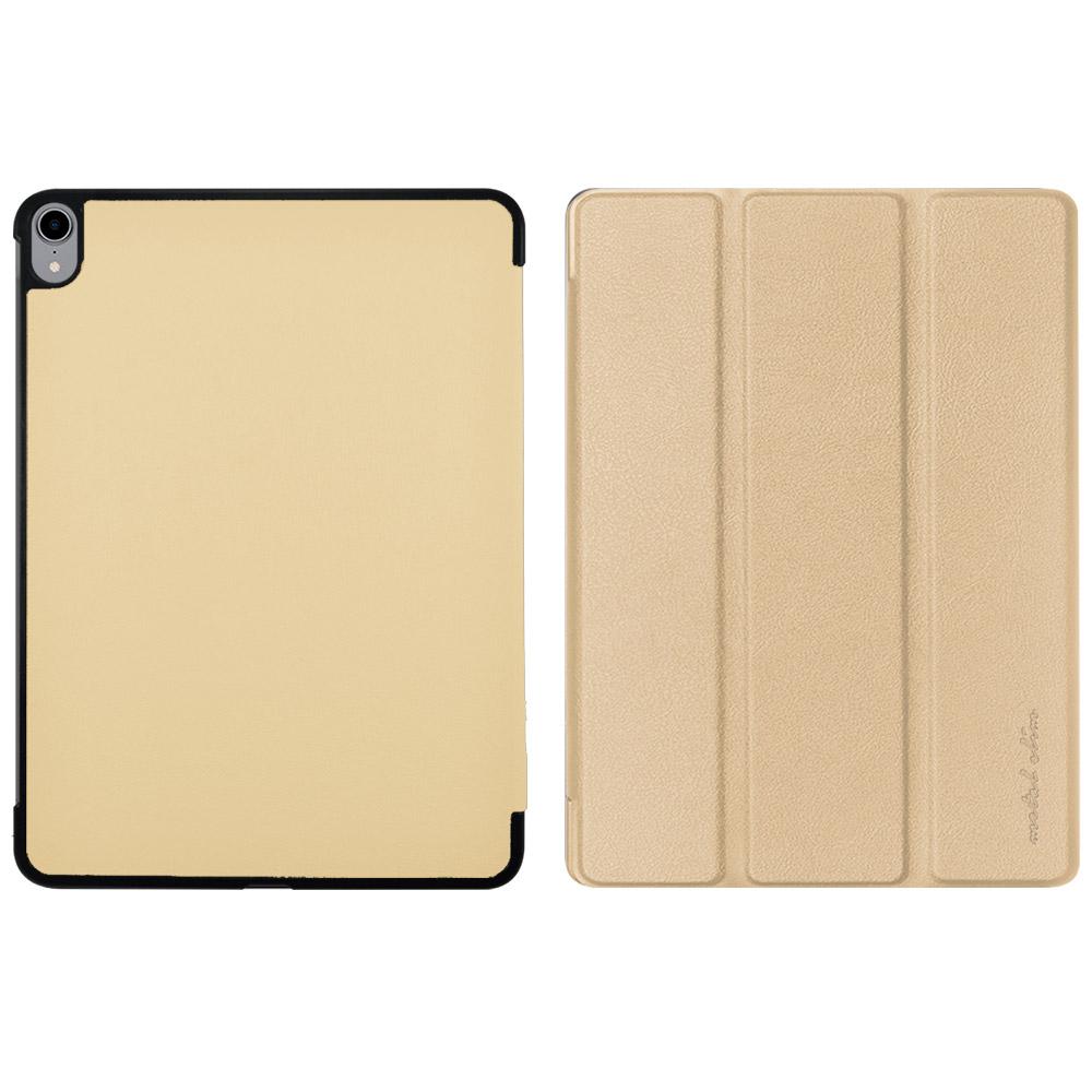Metal-Slim Apple iPad Pro 11 2018仿小牛皮金色站立皮套