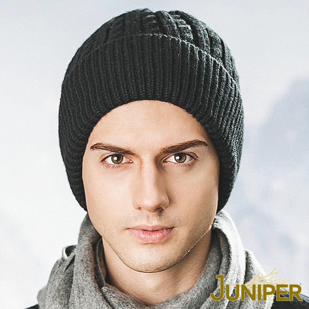 JUNIPER 男款羊毛針織防風刷毛絨內裡毛線冬帽