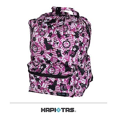 日本HAPI+TAS 可手提 折疊後背包 新版粉色愛麗絲