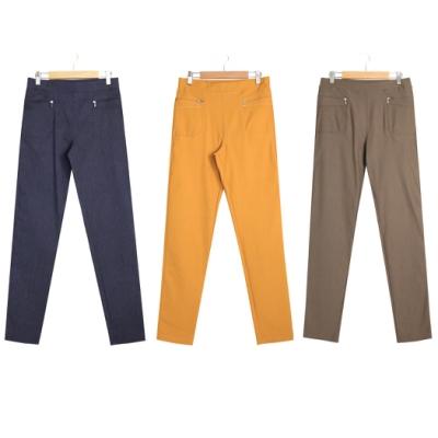 【TOWNWEAR棠葳】獨家款 素色百搭彈性窄管褲-三色任選