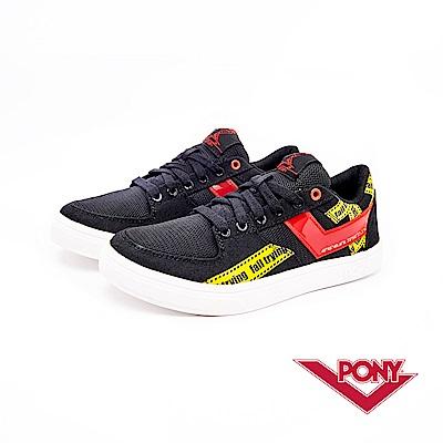 【PONY】A TOP系列-復古經典滑板鞋款-女-黑