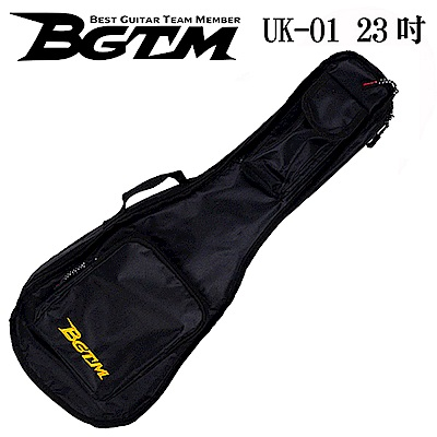 BGTM嚴選UK-01超高質感23吋烏克麗麗琴套(雙背/厚棉)-黑色