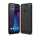 PKG HTC Desire12 Plus手機殼-時尚碳纖紋路+抗指紋-精緻黑