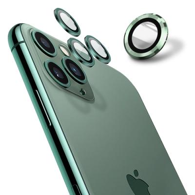 【Ayss】康寧鏡頭保護貼 iPhone 12 mini / iPhone 12/9H硬度/金屬邊框/鏡頭全包覆式/AR光學玻璃/疏水疏油-2入-綠