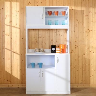 佳美 台灣製分層收納櫃 置物櫃 碗盤櫃 廚房櫃 (兩色可選) 90x40x180cm