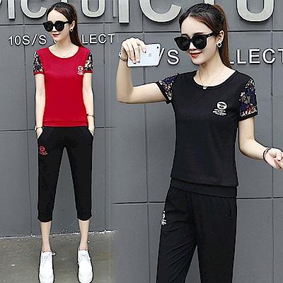 【韓國K.W.】追加款運動蕾絲套裝-2色