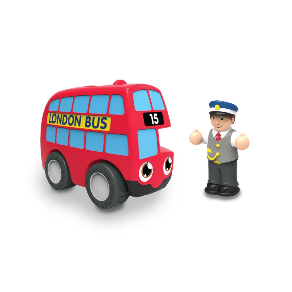英國驚奇玩具 WOW Toys 隨身迷你車 - 倫敦巴士 貝希爾
