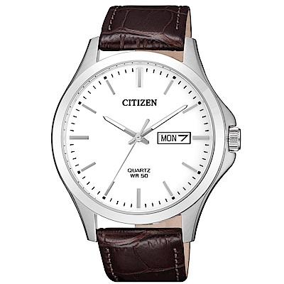 CITIZEN 大方經典石英腕錶/BF2001-12A
