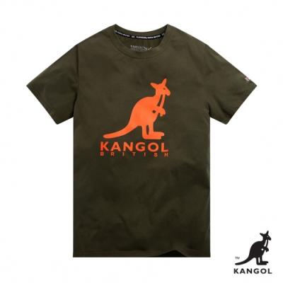 【KANGOL】經典LOGO圓領短袖T恤-男-綠
