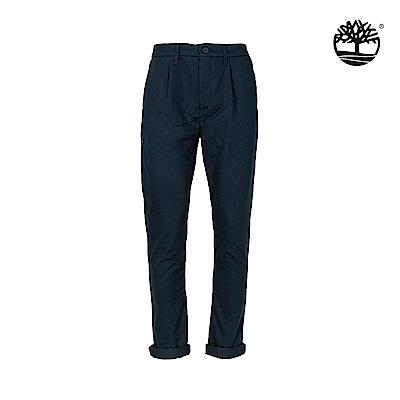 Timberland 男款深藍寶石藍斜紋布彈性修身錐形休閒長褲 A1WGQ