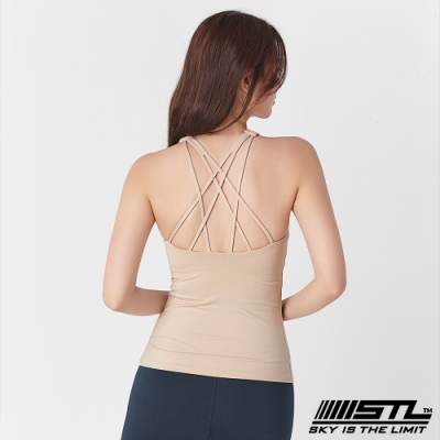 STL Yoga Bra top SS Star 韓國 自然美型 運動機能背心(含專利胸墊) 星星奶茶