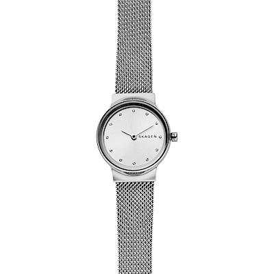 Skagen Freja 晶鑽小錶徑米蘭帶女錶-銀/26mm (SKW2715)