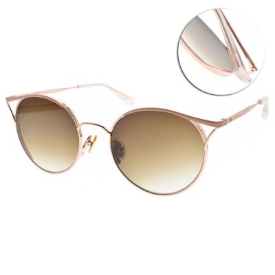 NINE ACCORD太陽眼鏡  玩味貓眼款/霧粉玫瑰金-漸層棕#KISSING-WENDY C2
