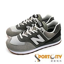 New Balance 574 復古鞋男休閒鞋 灰黑