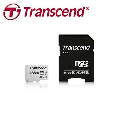 創見128GB 300S microSDXC UHS-I U3 V30 A1 記憶卡(附轉卡)