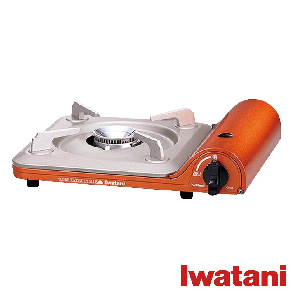 日本Iwatani 岩谷達人slim磁式超薄型高效能瓦斯爐-橘色