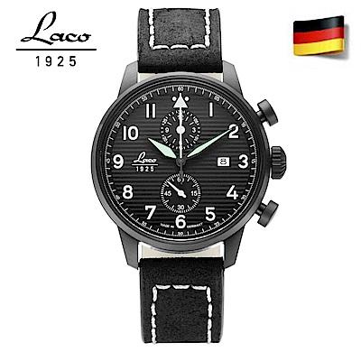 Laco 朗坤861975德國工藝LAUSANNE飛行員手錶軍錶 石英錶42mm
