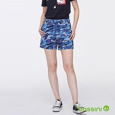 bossini女裝-印花輕便短褲05海軍藍