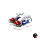 艾樂跑Combat童鞋 飛織運動鞋-白/黑 (TD-6293)
