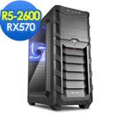 微星B450平台[迷幻勇士]R5六核RX570獨顯SSD電玩機