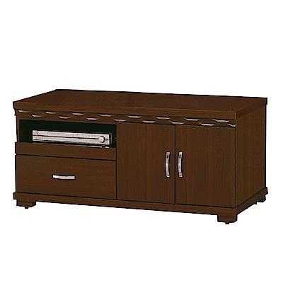 綠活居 盧比時尚4尺木紋電視櫃/視聽櫃-118.5x48.3x54cm-免組