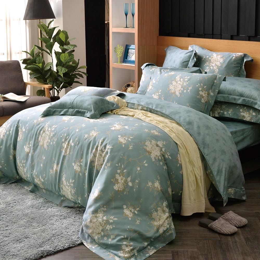 義大利La Belle 如夢香韻 雙人天絲四件式防蹣抗菌吸濕排汗兩用被床包組
