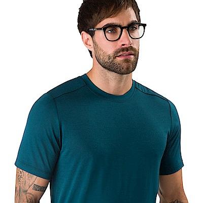 Arcteryx 始祖鳥 男 A2B 羊毛混紡 短袖T恤 海洋綠