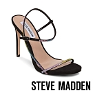 STEVE MADDEN-OAKLYN 奢華彩虹晶鑽踝繞帶高跟鞋-彩虹色