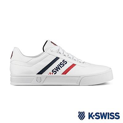 K-Swiss Court Lite Spellout S休閒運動鞋-男-白
