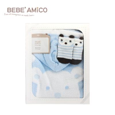 BEBE AMiCO-雲柔斗篷禮盒-雲朵小熊(彌月禮盒)