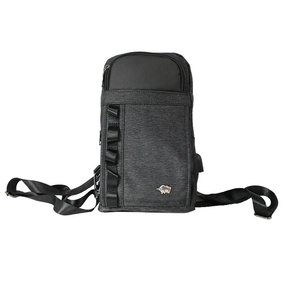 DRAKA 達卡 - 衝鋒者Charge系列-胸包/iPad後背包-黑