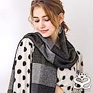 SOFER 英倫格紋100%蠶絲圍巾 - 灰綠