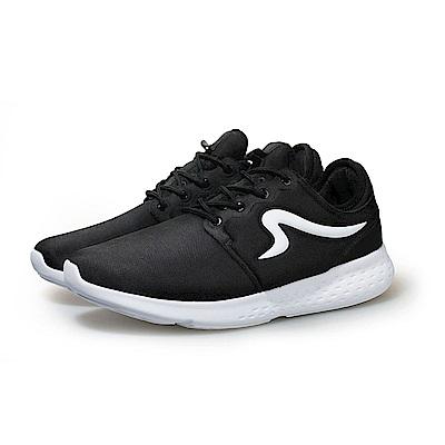 【ZEPRO】男子CITY RUN系列運動時尚休閒鞋-經典黑