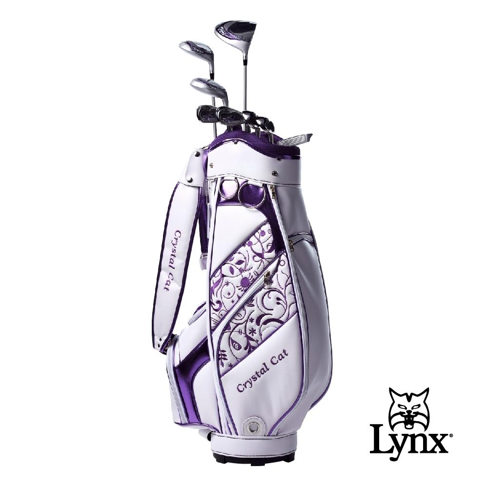 【Lynx Golf】女款Lynx CrystalCat 高爾夫套桿組(附球袋)-白色