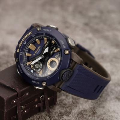 CASIO 卡西歐 G-SHOCK 海軍藍軍裝手錶(GA-2000-2A)