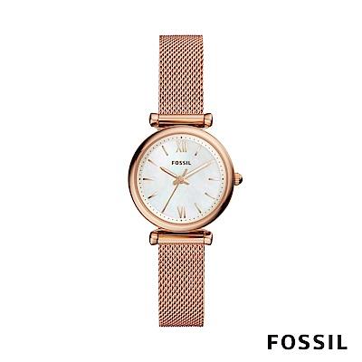 FOSSIL Carlie Mini 迷你奢華女錶-玫瑰金