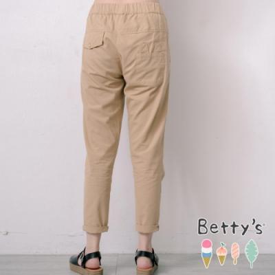 betty's貝蒂思 腰鬆緊兔耳朵口袋長褲(卡其)