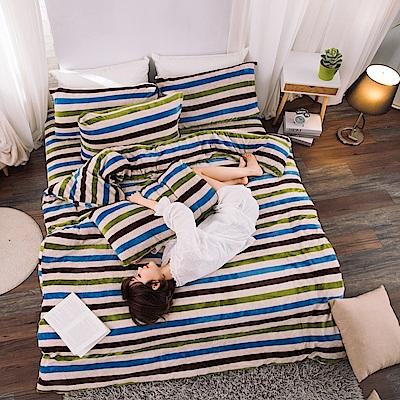 eyah 獨家私花抗寒頂級法蘭絨單人床包枕套組 鄉村農莊瑞士風