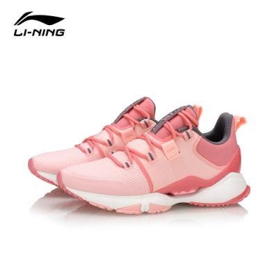 LI-NING 李寧 Crazy Run X跑鞋-女慢跑鞋 櫻粉冰莓紅(ARHQ022-1)