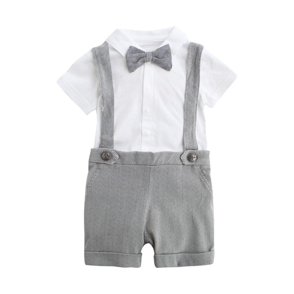 Baby童衣 吊帶褲套裝 紳士寶寶短袖套裝 LYT39