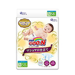 GOO.N日本大王黏貼型紙尿褲(S)58片x3包/箱-珍珠棉柔版
