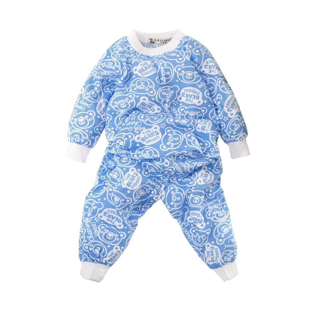 魔法Baby 童裝 台灣製秋春季薄長袖兒童居家套裝 睡衣 k61161