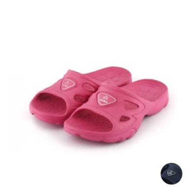 艾樂跑Arriba童鞋 防滑拖鞋-桃紅/藍 (TD-6260)