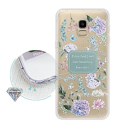 浪漫彩繪 Samsung Galaxy J6 水鑽空壓氣墊手機殼(幸福時刻)