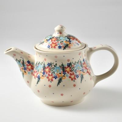 波蘭陶 桃花源系列 茶壺 1.1L 波蘭手工製