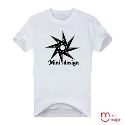 (男款)八角星圖騰潮流設計短T 三色-Minidesign