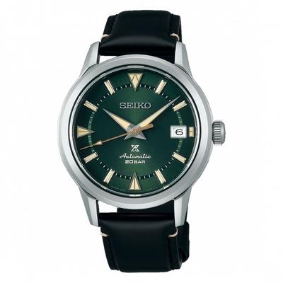 SEIKO精工 PROSPEX 黑標Land6R35機芯牛皮錶-綠色39mm(SPB245J1)