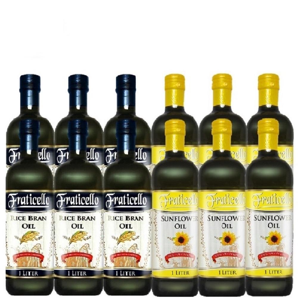 義大利帆聖西歐 玄米油+葵花油(1000mlx12瓶)