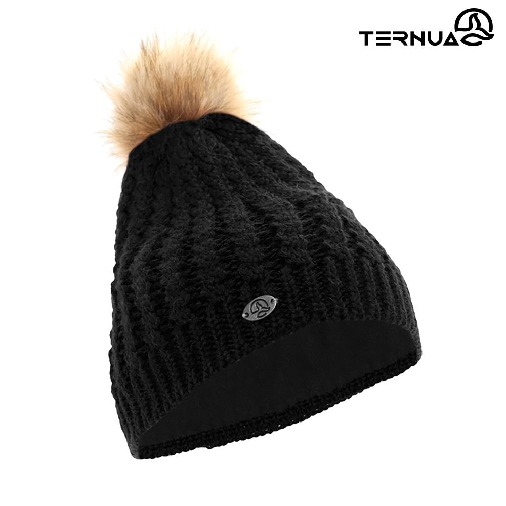 TERNUA 女美麗諾羊毛保暖毛帽2661653【黑色】