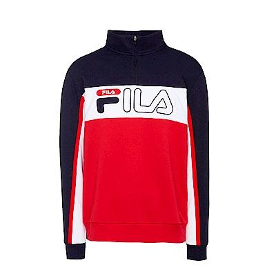 FILA男半門襟T恤-紅 1TES-5402-RD